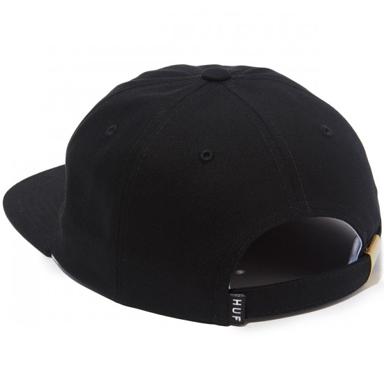 Huf Slant Six Panel Hat - Black