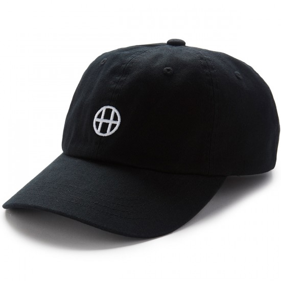 Huf Circle H Curve Visor 6 Panel Hat - Black
