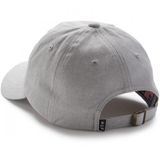 Huf Circle H Curve Visor 6 Panel Hat - Grey Heather