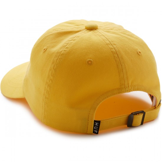 Huf Circle H Curve Visor 6 Panel Hat - Light Yellow