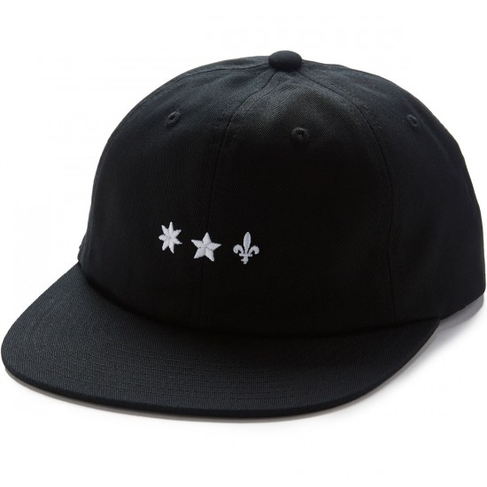 Huf Huf Cliche 6 Panel Hat - Black