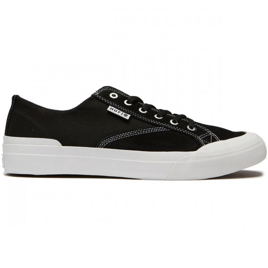 HUF Classic Lo Ess Shoes - Black Suede/White - 8.0