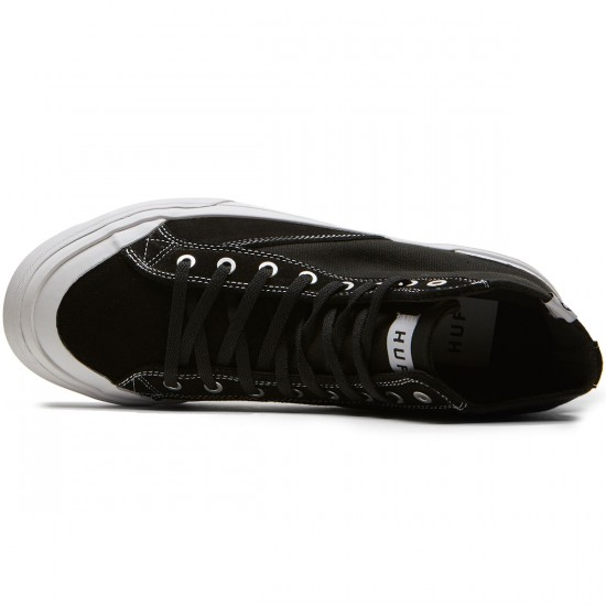 HUF Classic Hi ESS Shoes - Black Suede/White - 8.5