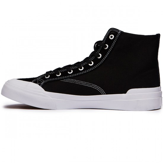 HUF Classic Hi ESS Shoes - Black/White - 8.0