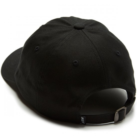 Huf Worldwide UV Curved Brim Hat - Black