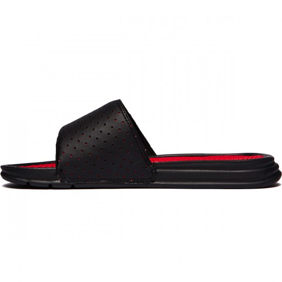 HUF Slide Shoes - Black/Red