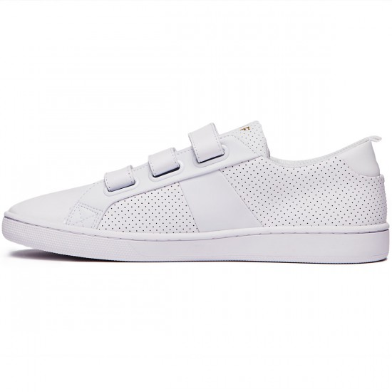 HUF Boyd Shoes - White Velcro - 8.0