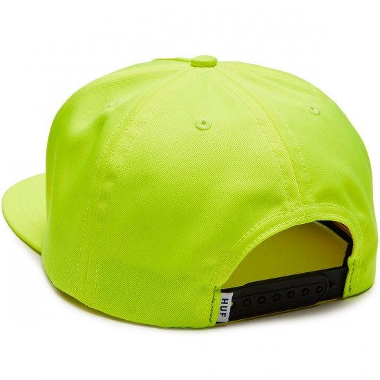 Huf Stage Snapback Hat - Hot Lime
