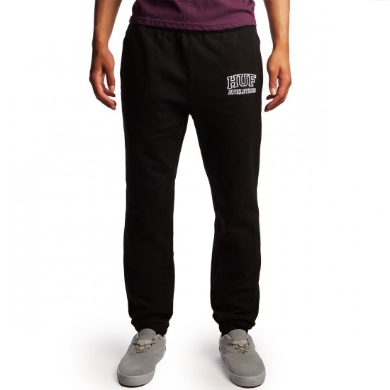 Huf Romes Fleece Sweatpant - Black - LG
