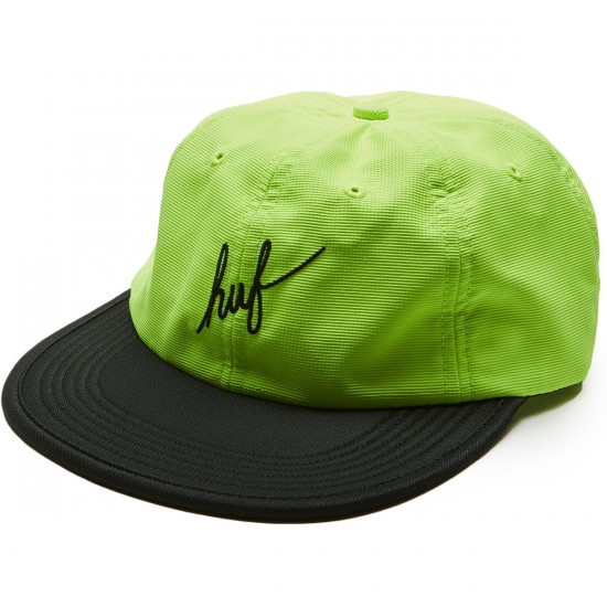 Huf Formless Script 6 Panel Hat - Lime