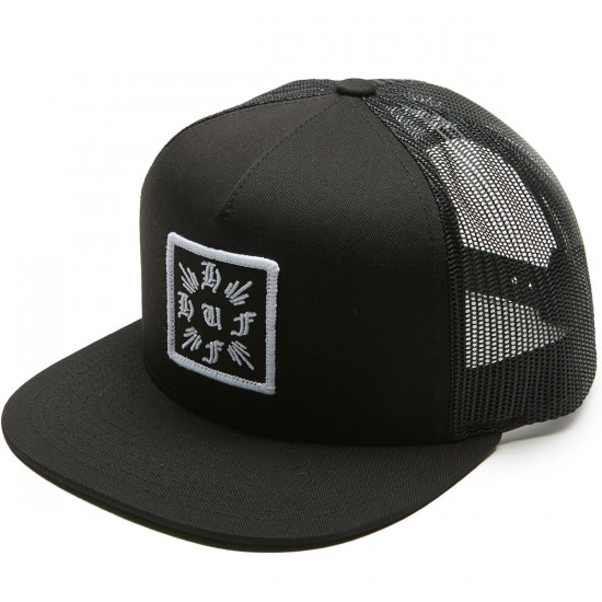Huf Cross Trucker Hat - Black