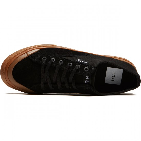 HUF Classic Lo Ess Shoes - Black/Gum - 8.0