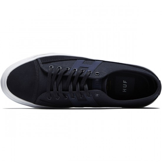 Huf Hupper 2 Lo Shoes - Navy Moonlight