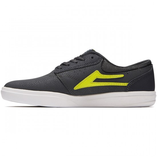 Lakai Griffin XLK Shoes - Charcoal/Lime Nubuck - 8.0