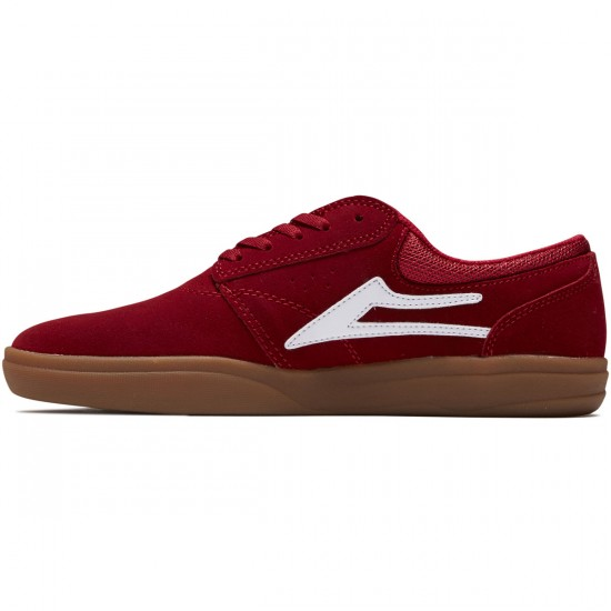 Lakai Griffin XLK Shoes - Red/Gum Suede - 8.5