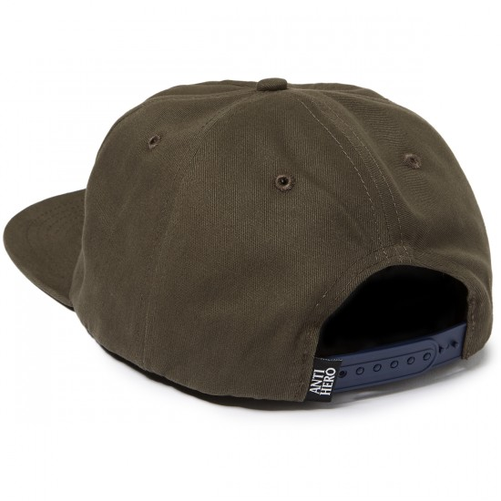 Anti Hero Reserve Patch Snapback Hat - Brown