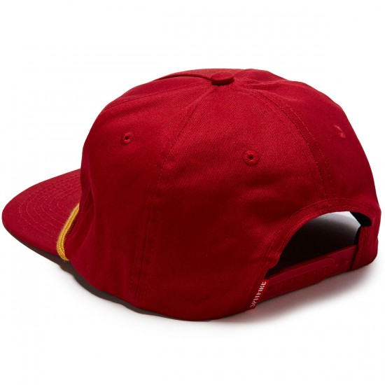 Spitfire Flying Classic Snapback Hat - Red