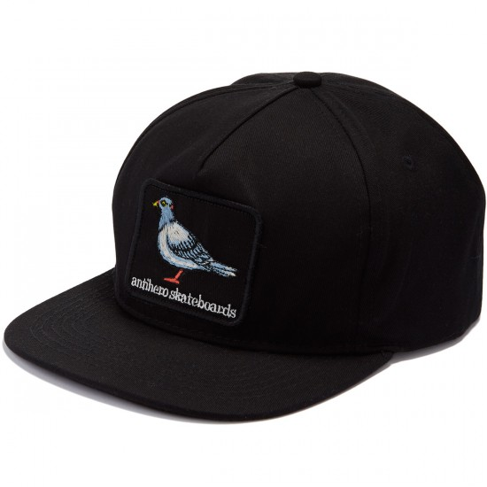 Anti-Hero Pigeon Patch Snapback Hat - Black