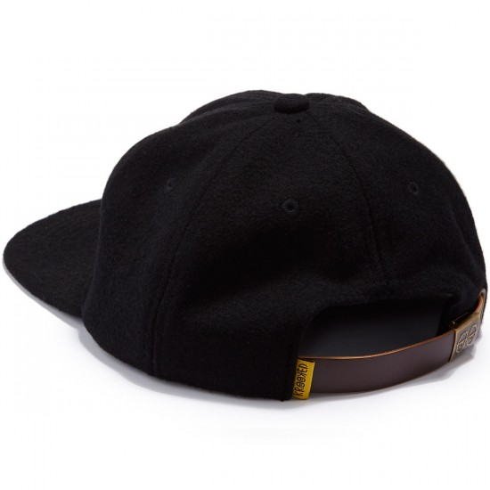 Krooked Shmolo Embroidered Strapback Hat - Black