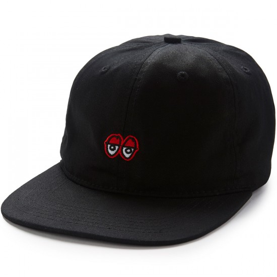 Krooked Eyes Strapback Hat - Black