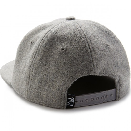 Anti-Hero Eagle EMB 6 Panel Snapback Hat - Heather Grey