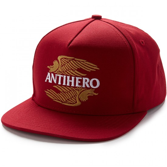 Anti-Hero AHXR EMB Snapback Hat - Red