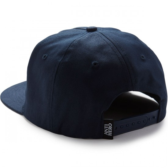 Anti-Hero Punch EMB Snapback Hat - Navy