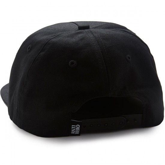 Anti-Hero Enginreering Snapback Hat - Black