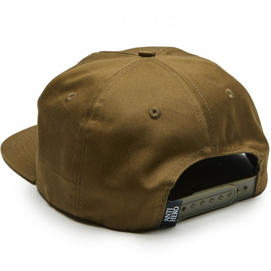Anti-Hero Pigeon Patch Snapback Hat - Dark Olive