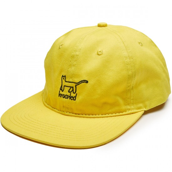 Krooked Kat Emb Strapback Hat - Yellow