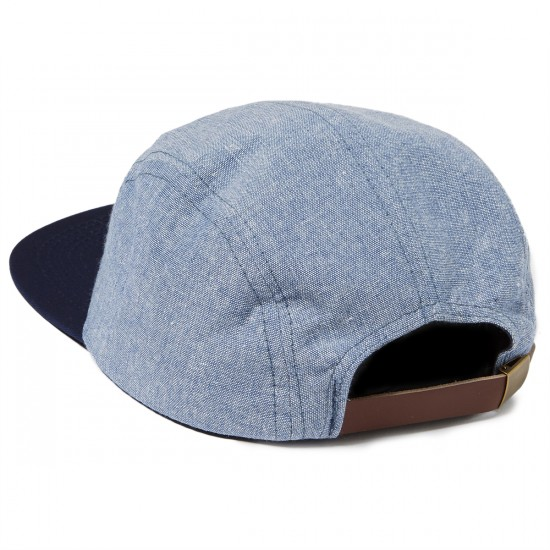 Brixton Hoover 5 Panel Hat - Light Blue/Navy