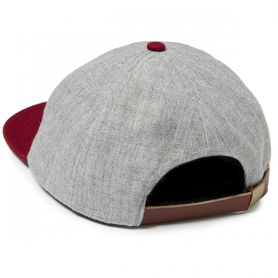 Brixton Gomez Hat - Heather Grey/Burgundy