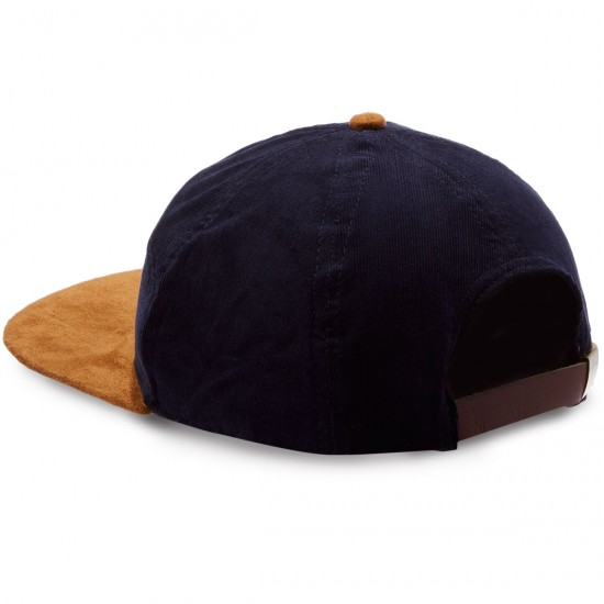 Brixton Oath 7 Panel Hat - Navy/Copper