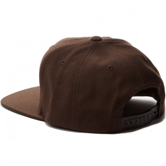 Brixton Grade Snapback Hat - Dark Brown