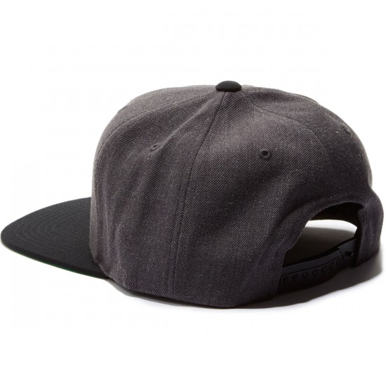 Brixton Grade Snapback Hat - Charcoal Heather/Black