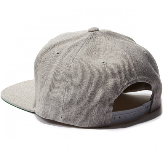 Brixton Grade Snapback Hat - Light Heather Grey