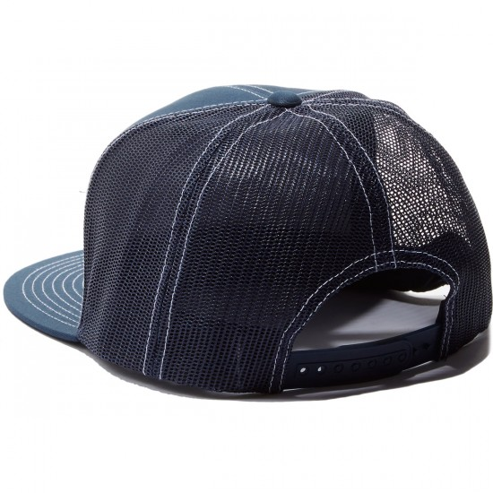 Brixton Wheeler Mesh Hat - Navy/Red