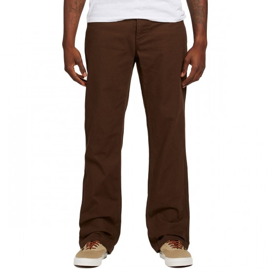 Brixton Fleet Rigid 5 Pocket Pants - Brown - 36 - 32