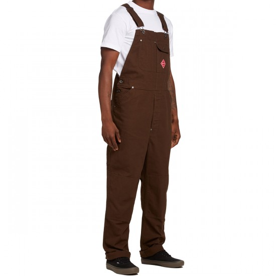 Brixton Fleet Rigid Overall Pants - Brown - LG