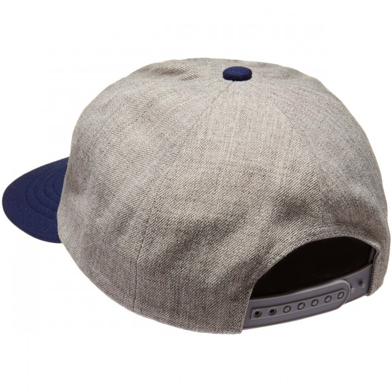 Brixton Reggie Snapback Hat - Heather Grey/Navy
