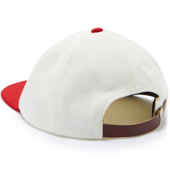 Brixton Wagner Snapback Hat - Off White/Red