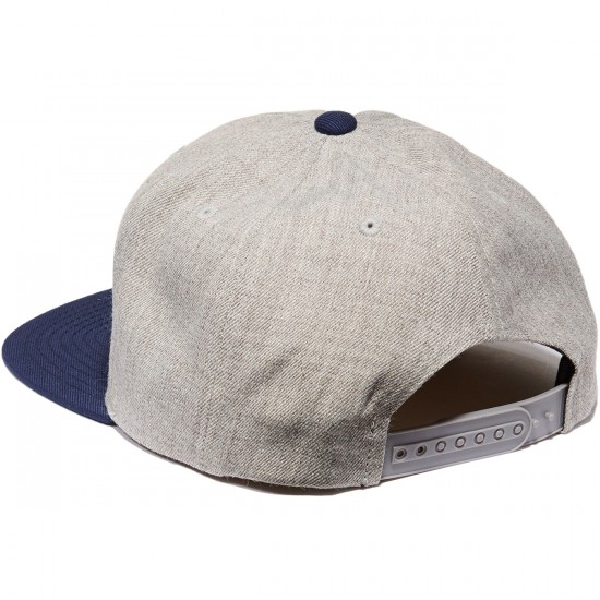 Brixton Bedford Snapback Hat - Light Heather Grey/Navy