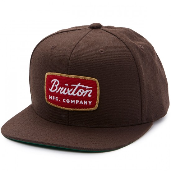 Brixton Jolt Snapback Hat - Brown
