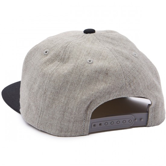 Brixton Jolt Snapback Hat - Light Heather Grey/Black