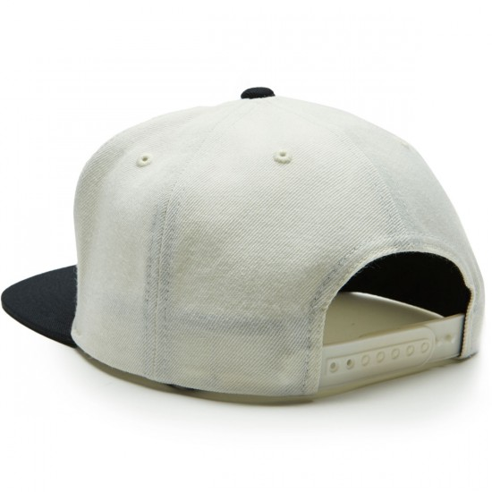 Brixton Jolt Snapback Hat - Off White/Black