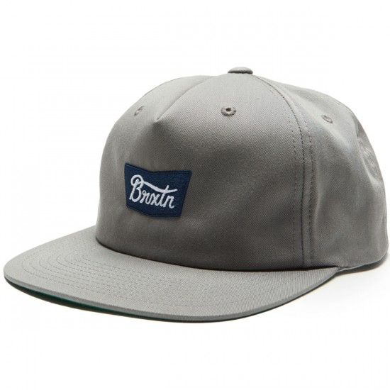 Brixton Stith Snapback Hat - Grey