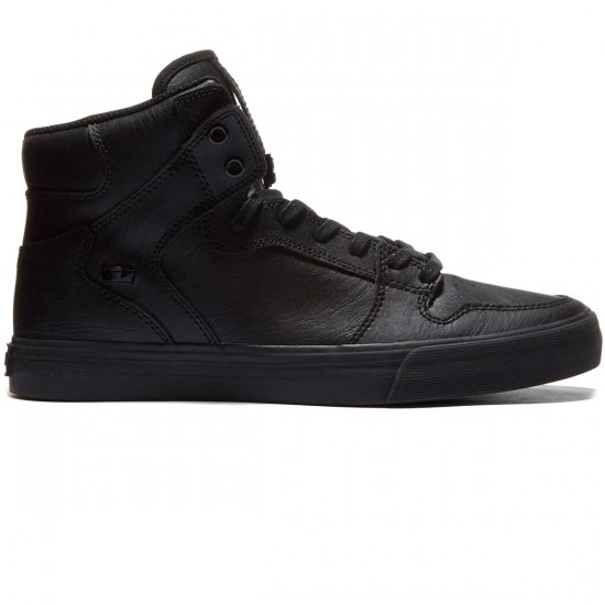 Supra Vaider Shoes - Black/Black/Red - 8.0