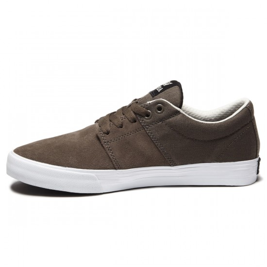 Supra Stacks Vulc II Shoes - Morel White - 8.0