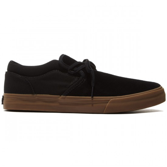 Supra Cuba Shoes - Black/Gum - 8.0