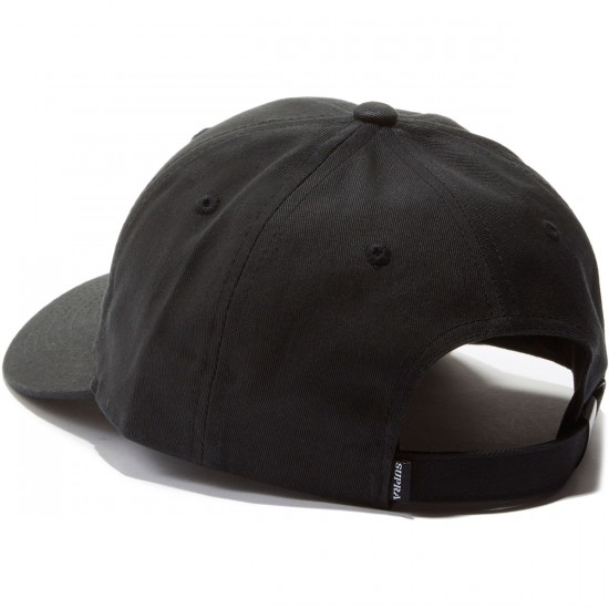 Supra Micron Snap Hat - Black